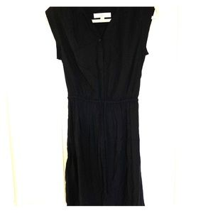 Ann Loft Taylor black drawstring dress